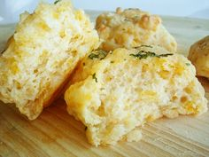 Light and Fluffy Cheddar Biscuits-  great with BBQ or Honey Garlic wings!