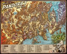 Map of the Borderlands (Pandora) This a has just about everything. || Gamer Daze