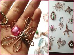 diy wire wrapped | DIY - 10 wire wrap pendants @Heather Ramshaw remember you wanted to do ...