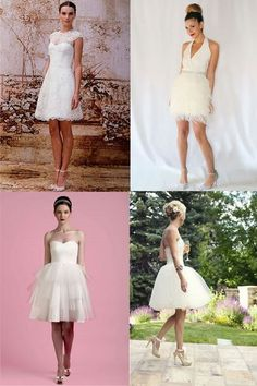 50 of the best short wedding dresses - 50 of the best short wedding dresses - sofeminine.co.uk