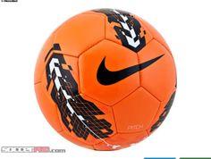 Nike orange soccer ball