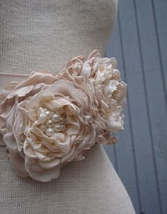 A personal favorite from my Etsy shop https://www.etsy.com/listing/76816786/bridal-sash-belt-wedding-sash-belt-with