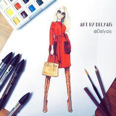 Delyais | Fashion Illustrator (@delyais) • Instagram photos and videos