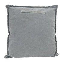 Kussen stonewashed - 45x45 cm - grijs