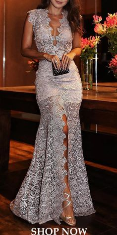 Prom dresses modest - Fashion Sexy Deep V Slim Lace Dress – Prom dresses modest Evening Dresses, Prom Dresses, Formal Dresses, Wedding Dresses, Wedding Outfits, Spring Dresses, The Dress, Stylish Outfits, Beautiful Dresses