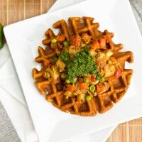 Permalink to: Chana Masala Waffles with Samosa Potatoes and Cilantro Mint Chutney