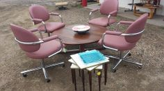 Set of 4 Chromcraft Chairs @ Mod Makes It! 303-990-5893 Sale $99.00  ***CHAIRS & NESTING TABLES $$$OLD$$$