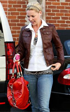 Katherine Heigl from The Big Picture: Today's Hot Photos Katherine Heigl, Celebrity Pics, Online Gallery, Big Picture, Greys Anatomy, Hottest Photos, Leather Jacket, Celebrities, People
