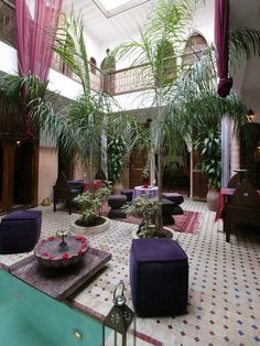 Fresh and cool Courtyards and Patio Garden Maroccan Style Design ...