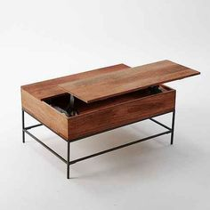 23 Insanely Clever Products For Your Small Space | A coffee table that lifts up to become a desk. $549.00 at West Elm