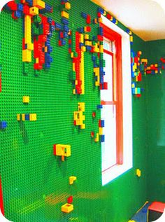 Now this is a cool bed room wall.  Eric would want this in our room!  LOL