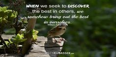 When we seek to discover...