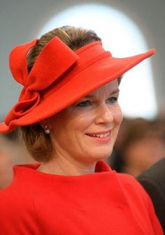 Queen Mathilde, October 19, 2013 in Fabienne Delvigne | The Royal Hats Blog | Posted on October 18, 2013 by HatQueen...King Philippe and Queen Mathilde moved on to Arlon today during their Belgian inauguration tour.