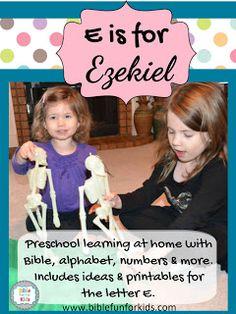 Preschool Alphabet: E is for Ezekiel and elephant, eagle & more!