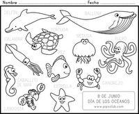 Día de los océanos (animales acuáticos)   Aquatic animals