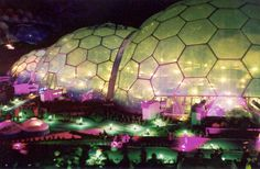 the eden project | eden project cornwall at night image by neil kennedy the eden project ...
