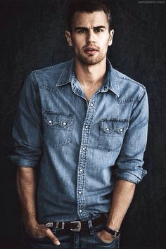 Theo James #four #divergent #castingenius He's actually like perfection. Maybe I should just make a Theo James board.