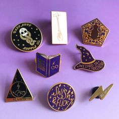 Bookish Enamel Pins for Book Lovers