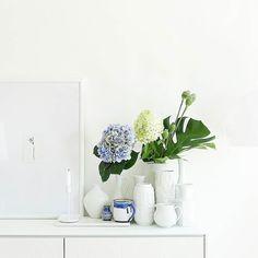 Erst Sonne dann ein wirklich kräftiges Gewitter partiell Sonne wieder grau... .  . Ein Sonntag mit Wetter-Stimmungsschwankungen... Und auch die Hortensien schwächeln schon leicht... Das schreit alles nach gemütlichem Couching heute  . Lazy on a cozy sunday... . #home #homedecor #living #livingroom #tv_living #allwhite #shelfie #solebich #interior #littlestoriesofmylife #alittlebeautyevery #aquitestyle #nothingisordinary_ #nothingisordinary #stylingtheseasons #simpleandstill…