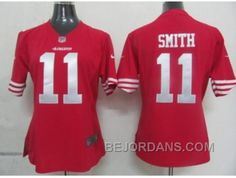 http://www.bejordans.com/free-shipping-60-off-nike-women-nfl-jerseys-san-francisco-49ers-11-smith-red.html FREE SHIPPING ! 60% OFF! NIKE WOMEN NFL JERSEYS SAN FRANCISCO 49ERS #11 SMITH RED Only $20.00 , Free Shipping!