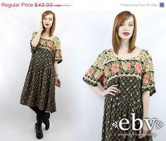 Vintage 90s Grunge Dress 90s Floral Dress Floral by shopEBV, $31.50