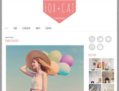 Premade Blogger Template Design  Fox and Cat Theme  by ElloThemes, $35.00