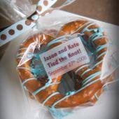 Cute Wedding Favor #pretzel #wedding