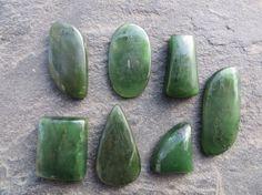 Jade Nephrite Stone Cabochons // Parcel Lot by SacredGemstoneStore