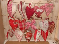 french fabric hearts