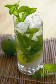 Mojito, the first time I drank one of these was in Key West and that day I met Gloria Estefan.. Incredible day in my life. It was she and me and three guys that were practicing for there tiny bar performance, Later I went back and danced Salsa to her got in free because she remember who I Was