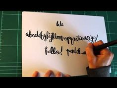 Hand Lettering Tutorial - Pentel Color Brush
