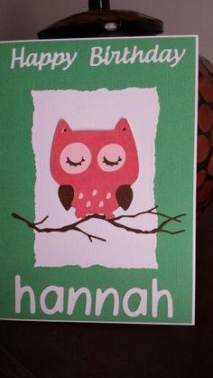 Create a critter owl birthday card.