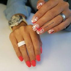 58 Popular Nail Design How To Pick Your Perfect One These trendy Nails ideas would gain you amazing compliments. Check out our gallery for more ideas these are trendy this year. Cute Summer Nail Designs, Cute Summer Nails, Simple Nail Art Designs, Easy Nail Art, Cute Nails, Pretty Nails, Red Nails, Hair And Nails, Nail Design Glitter