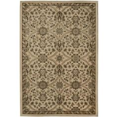 Fabris Khaki 5 ft. 3 in. x 7 ft. 6 in. Area Rug-243765 at The Home Depot