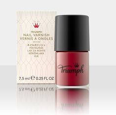 Classic red nail polish from the #Triumph beauty collection.