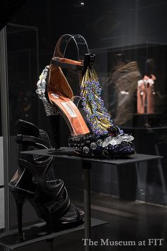 Beaded shoe by Lanvin, sandal by Balenciaga by Museum at FIT, via Flickr