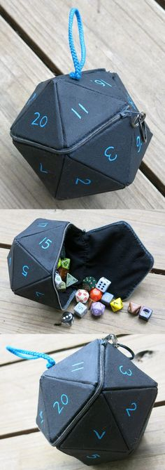 D20 Dice Bag by angermuffin #AceCrafts