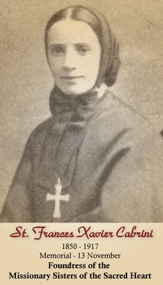 St. Frances Xavier Cabrini, patron saint of immigrants