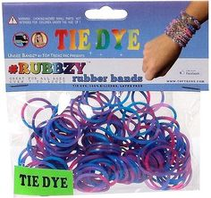 TOPSELLER! RUBBZY SILICONE TIE DYE RUBBER BANDS... $4.99