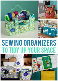 Want to do a project this weekend and organize your space? These sewing organizer patterns will help you add order to your fabric and notions.