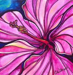 Purple Hibiscus – Colleen Wilcox Art