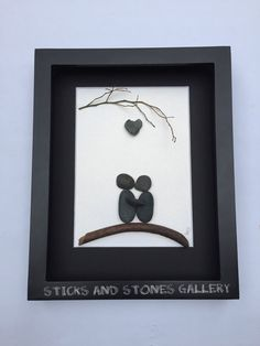Motivational Pebble Art Engagement Pebble Art by SticksnStone