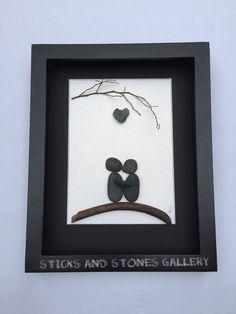 Motivational Pebble Art Engagement Pebble Art by SticksnStone