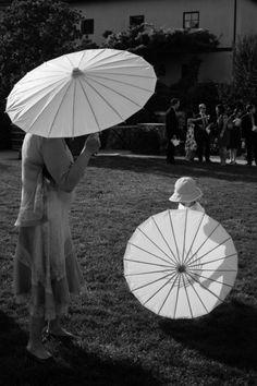 Wedding Parasols - Available from http://www.lightalantern.co.za/products/white-nylon-parasols  #weddings