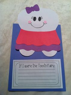 Dental Health Month writing prompt - If I were the tooth fairy