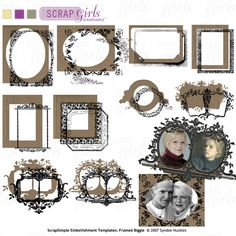 ScrapSimple Embellishment Templates: Framed Biggie