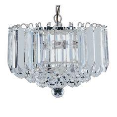 Sigma Chrome 4 Lamp Ceiling Light With Acrylic Prisms & Balls - Buy Modern Ceiling, Pendant Lighting, Furnitureinfashion UK