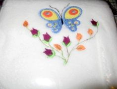 Embroidered white fleece baby blanket with butterfly colorful roses br Very soft fleece blanket baby will love to snuggle up in the softness br x fleece blanket with embroidered butterfly Embroidered Baby Blankets, Fleece Baby Blankets, Machine Embroidery Projects, Colorful Roses, Burp Cloths, Arts And Crafts, Butterfly, Shops, Handmade
