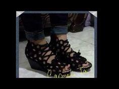 sandalias tejidas - YouTube