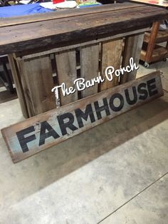 Barn wood crafts home decor wooden signs 20 Ideas for 2019 Barn Wood Signs, Farm Signs, Rustic Signs, Wooden Signs, Rustic Decor, Farmhouse Decor, Farmhouse Style, Farmhouse Bathrooms, Farmhouse Signs